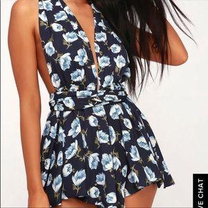 23133608f058 Lulu s Pants - Lulus multiway floral print romper